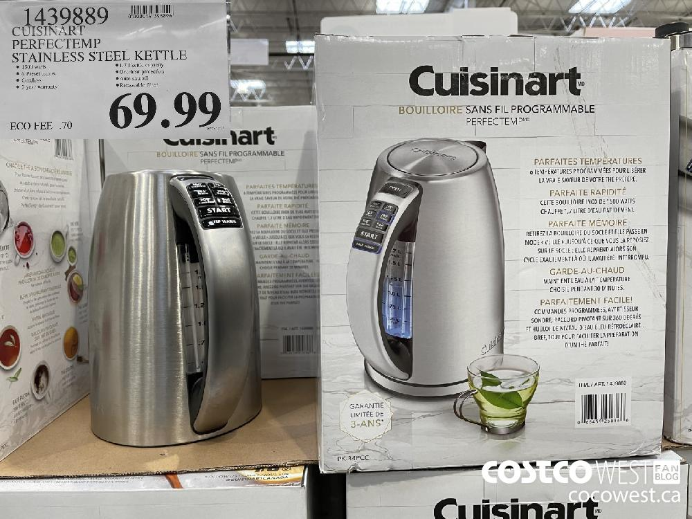 1439889 CUISINART PERFECTEMP STAINLESS STEEL KETTLE $69.99