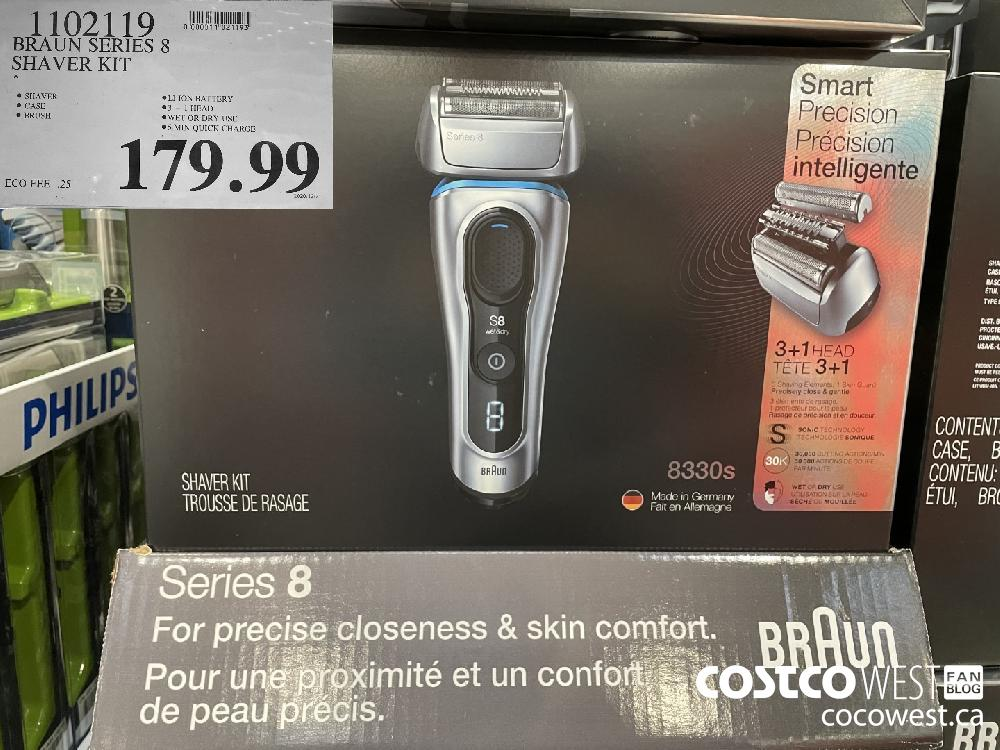 1102119 BRAUN SERIES 8 SHAVER KIT $179.99