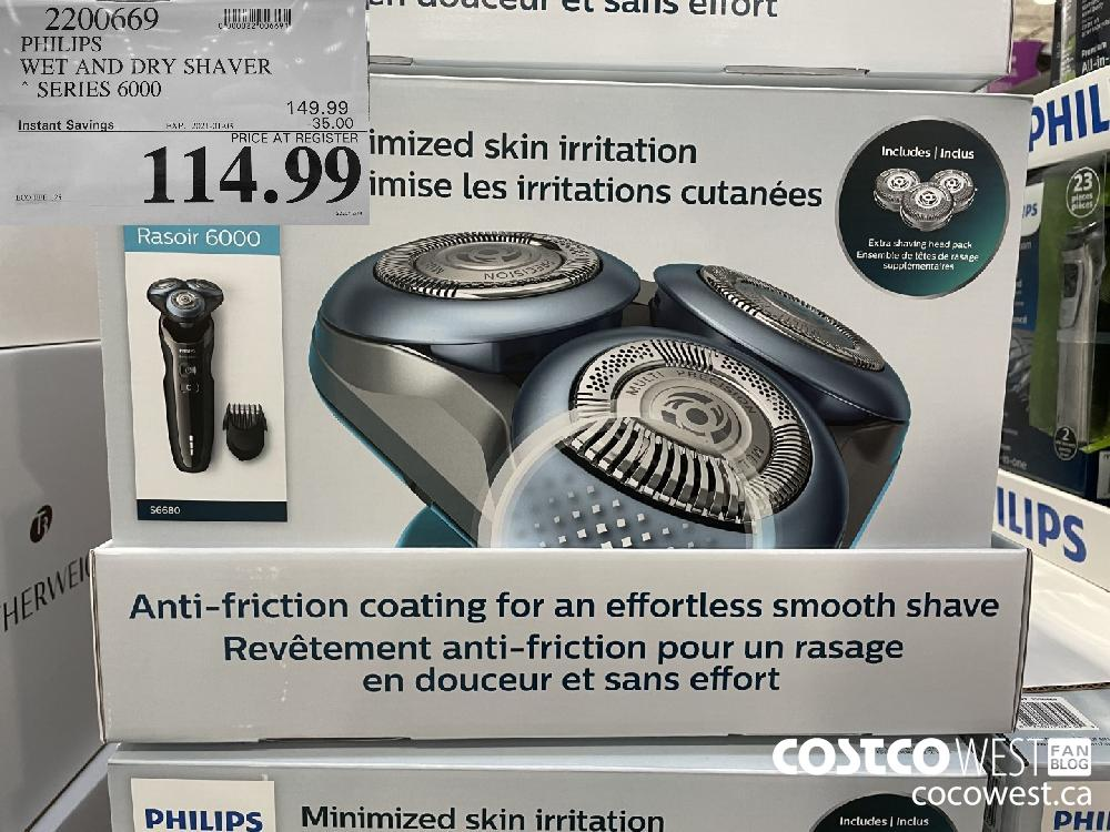 2200669 PHILIPS WET AND DRY SHAVER * SERIES 6000 EXPIRY DATE: 2021-01-03 $114.99