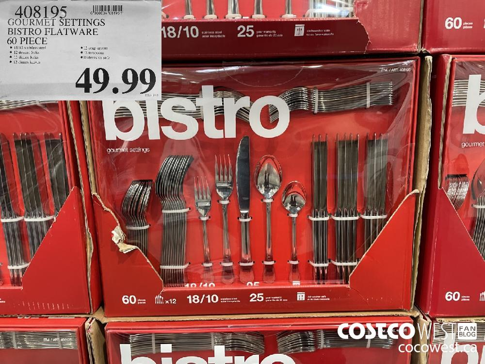 408195 GOURMET SETTINGS BISTRO FLATWARE 60 PIECE $49.99