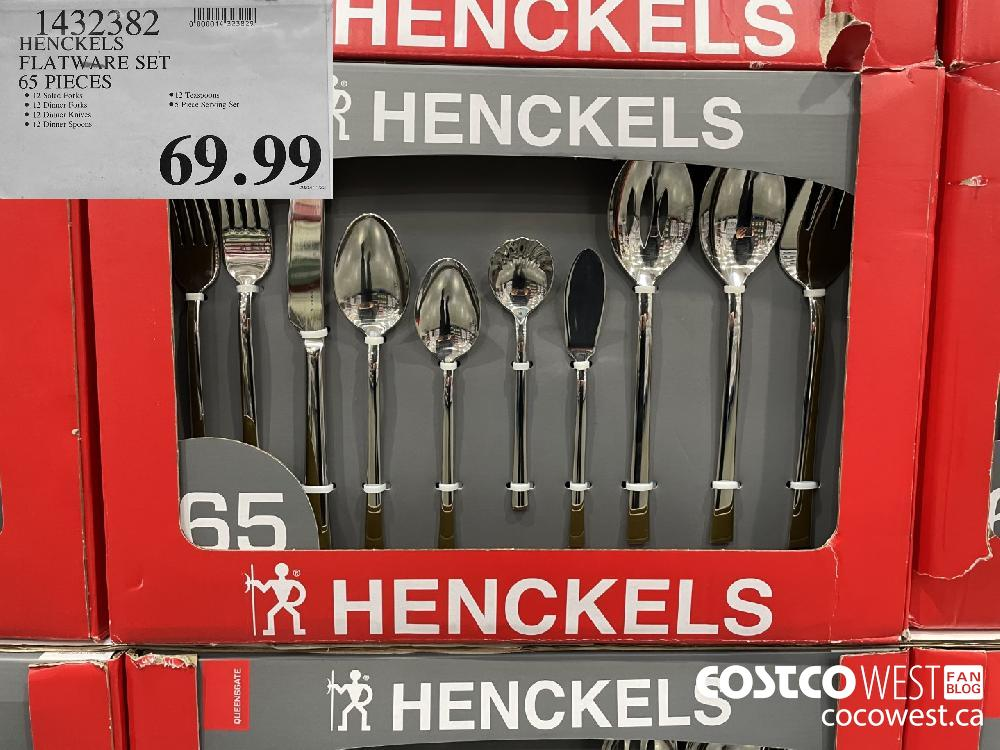 14323382 HENCKELS FLATWARE SET 65 PIECES $69.99