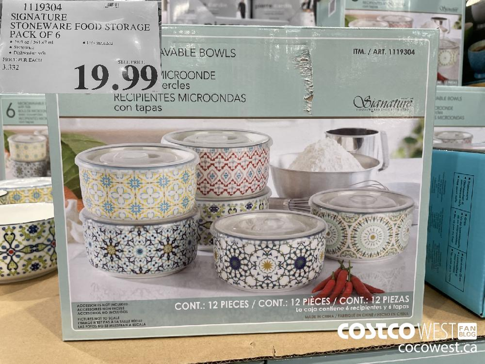 1119304 SIGNATURE STONEWARE FOOD STORAGE PACK OF 6 $19.99