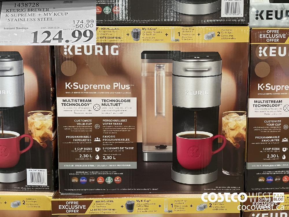 """1438728 K-SUPREME MY KCUP """"STAINLESS STEEL 197 4299 EXPIRY DATE: 2020-12-28 $124.99"""