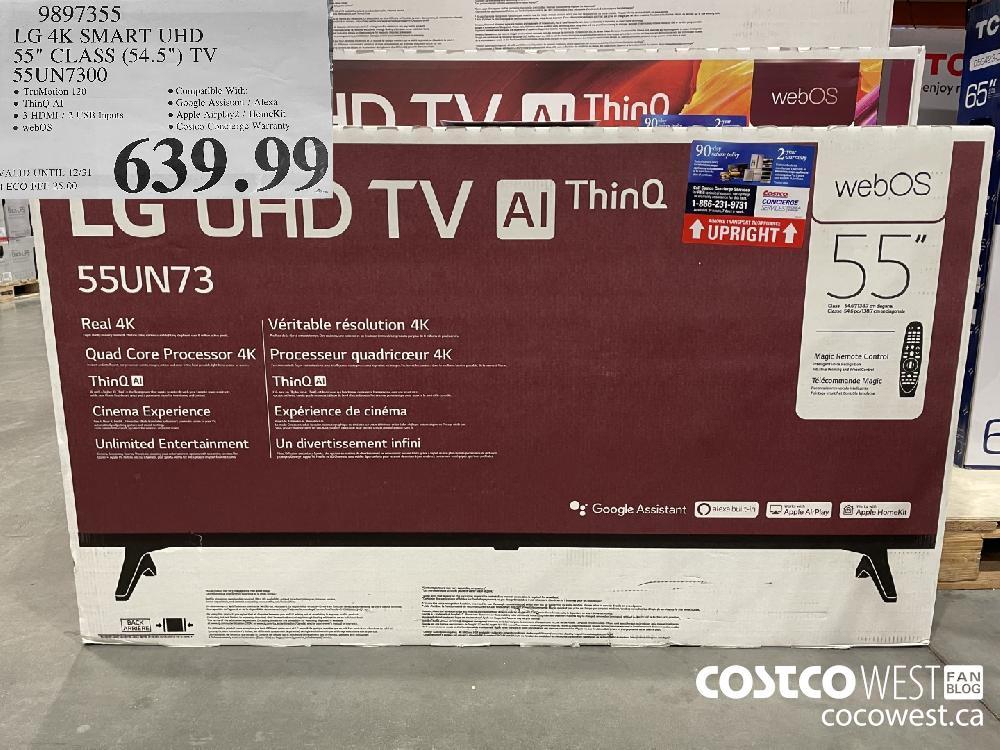 9897355 LG 4K SMART UHD 95 CLASS (54.52) TV SS5UN7300 VALID UNTIL 12/31 $639.99