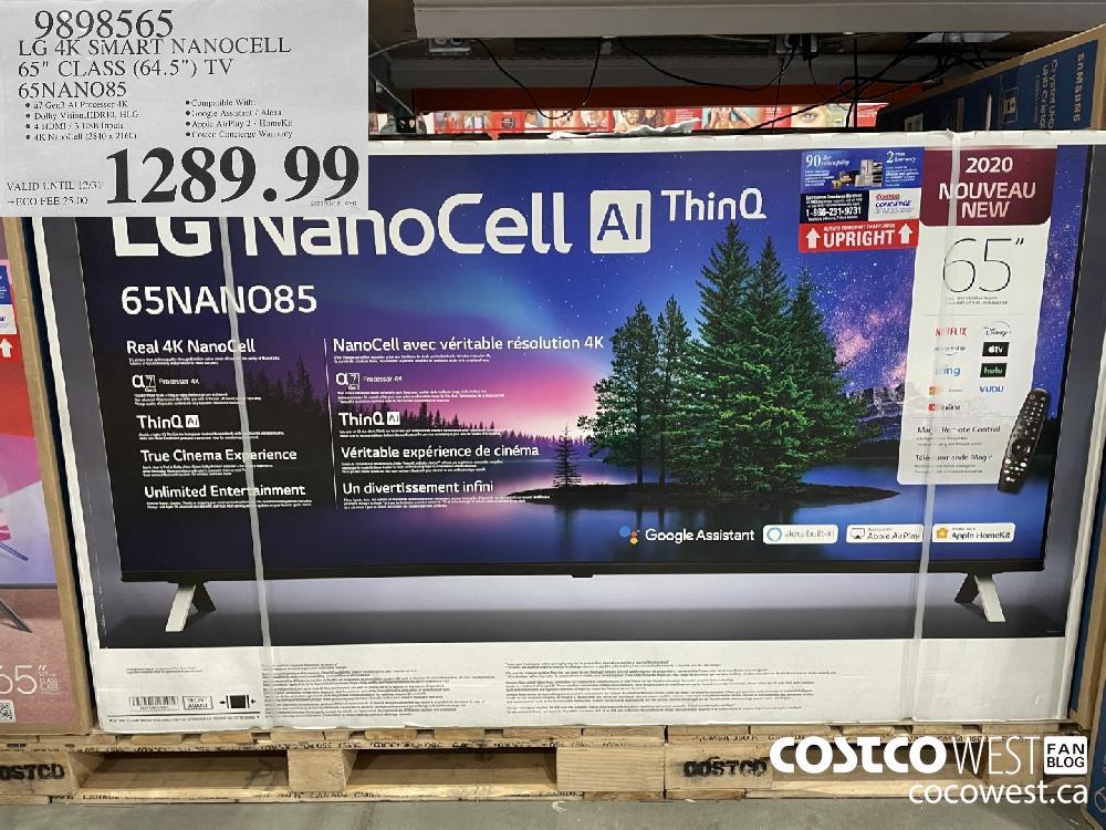 "9898565 LG 4K SMART NANOCELL 65"" CLASS (64.5"") TV 65NANO85 VALID UNTIL 12/31 $1289.99"