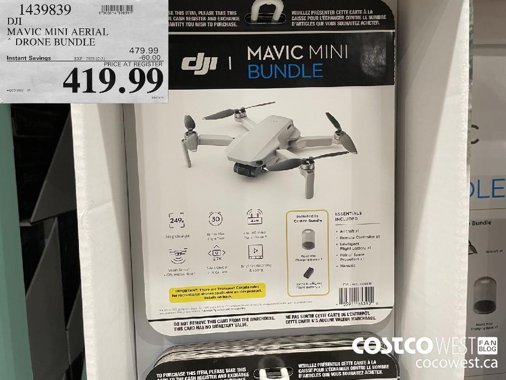 1439839 DJI MAVIC MINI AERIAL DRONE BUNDLE EXPIRY DATE: 2020-12-31 $419.99
