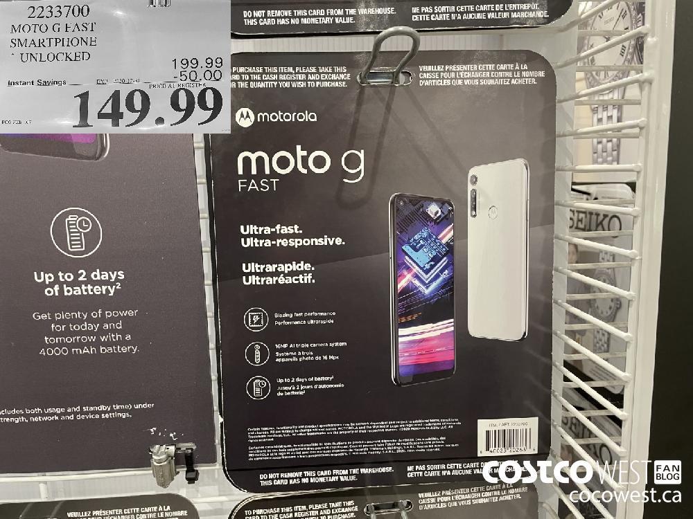 MOTO G FAST SMARTPHONE * UNLOCKED EXPIRY DATE: 2020-12-31 $149.99