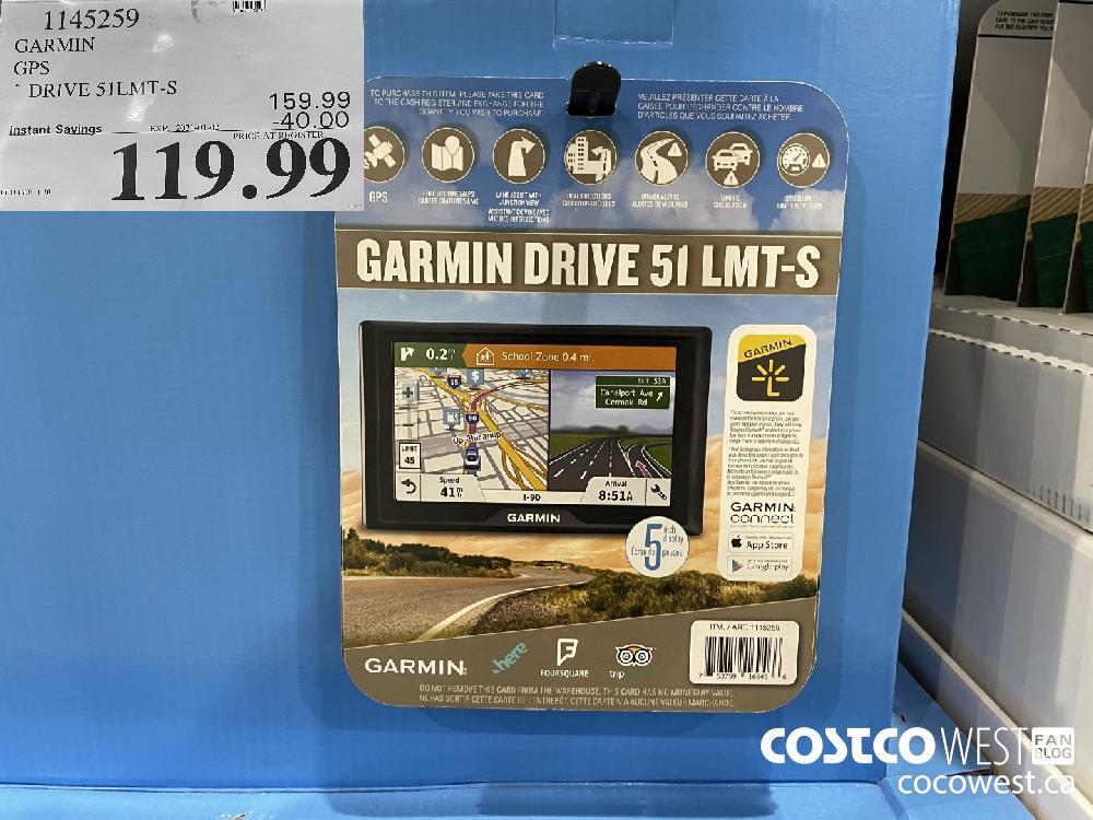 1145259 GARMIN GPS * DRIVE 51LMT-S EXPIRY DATE: 2021-01-02 $119.99