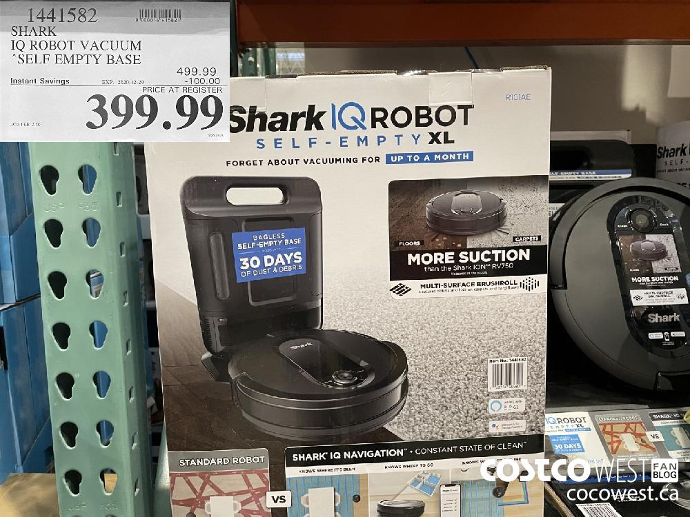 "1441582 SHARK IQ ROBOT VACUUM ""SELF EMPTY BASE EXPIRY DATE: 2020-12-29 $399.99"