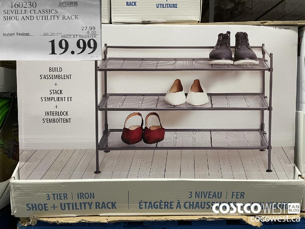 160230 SEVILLE CLASSICS SHOE AND UTILITY RACK EXPIRY DATE: 2021-01-03 $19.99