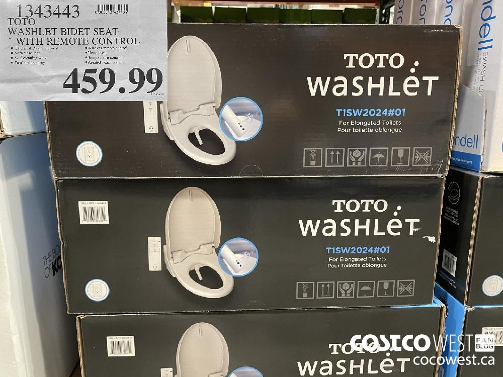 1343443 TOTO WASHLET BIDET SEAT * WITH REMOTE CONTROL $459.99