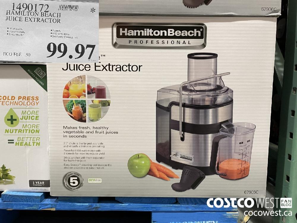 1490172 HAMILTON BEACH JUICE EXTRACTOR $99.97
