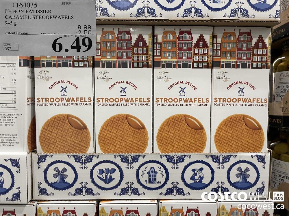 1164035 LE BON PATISSIER CARAMEL STROOPWAFELS 945 g EXPIRY DATE: 2021-01-03 $6.49