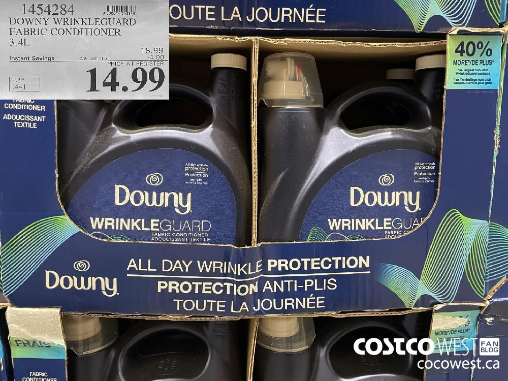 1454284 DOWNY WRINKLEGUARD FABRIC CONDITIONER 3.4L EXPIRY DATE: 2021-01-03 $14.99