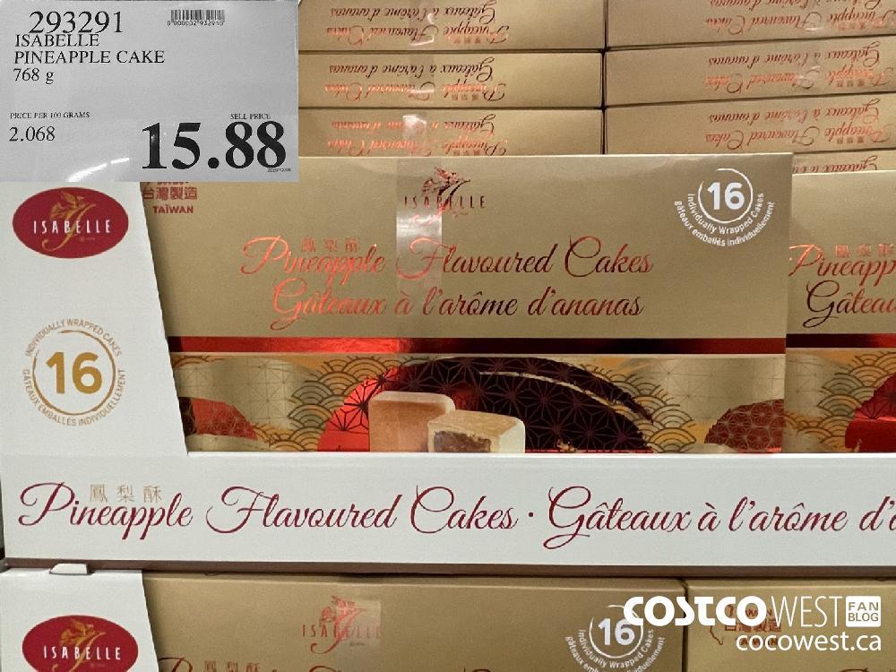 993291 ISABELLE PINEAPPLE CAKE 768 g $15.88