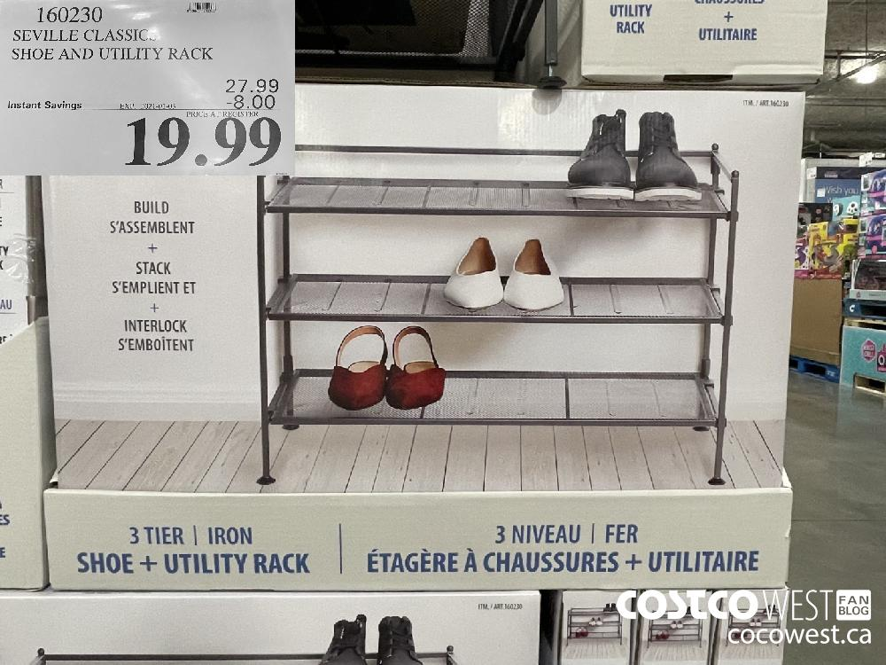 160230 SEVILLE CLASSIC SHOE AND UTILITY RACK EXPIRY DATE: 2021-01-03 $19.99