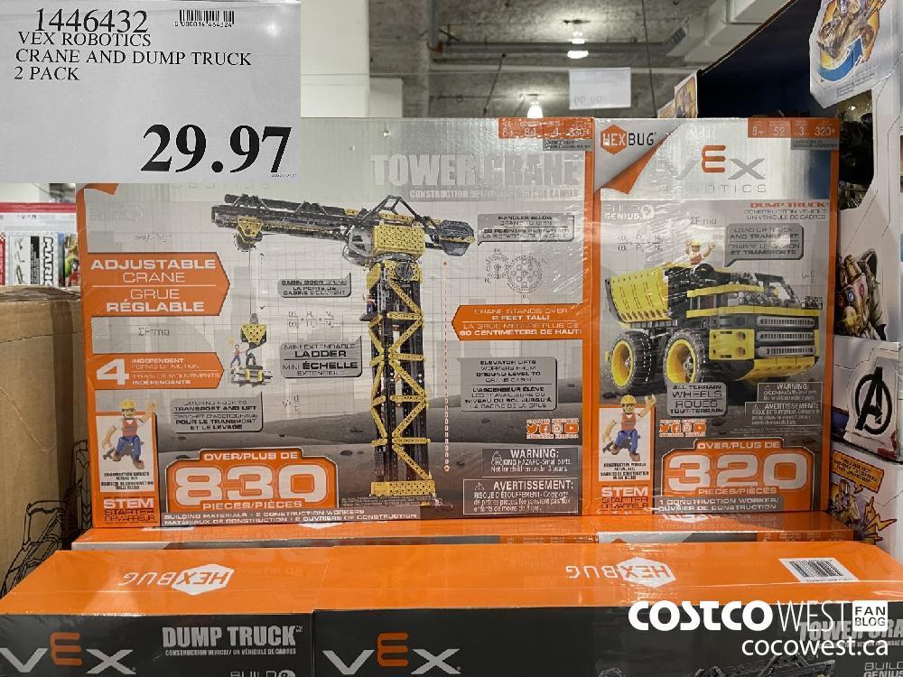 1446432 VEX ROBOTICS CRANE AND DUMP TRUCK 2 PACK $29.97