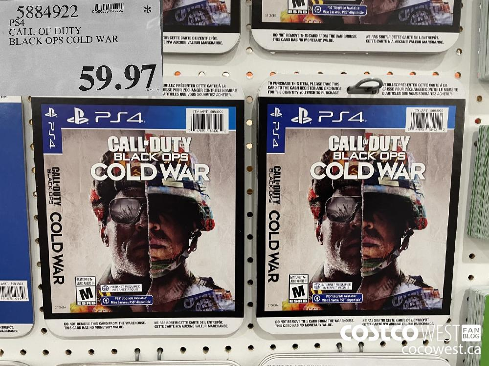 52849072 PS4 CALL OF DUTY BLACK OPS COLD WAR $59.97