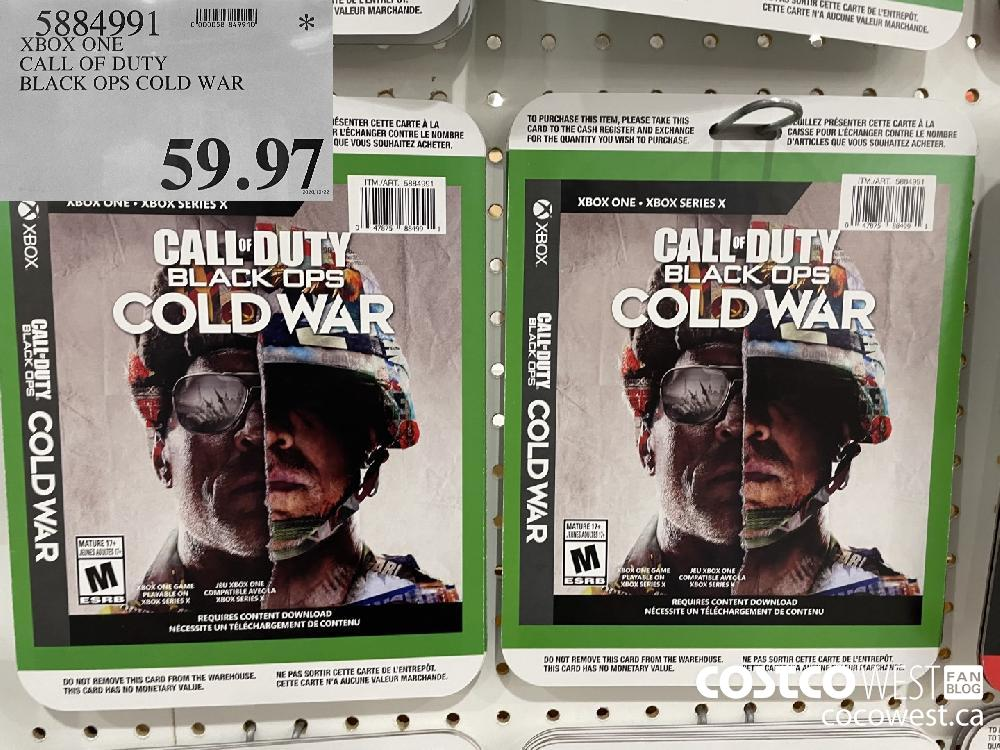 5884991 XBOX ONE CALL OF DUTY BLACK OPS COLD WAR $59.97