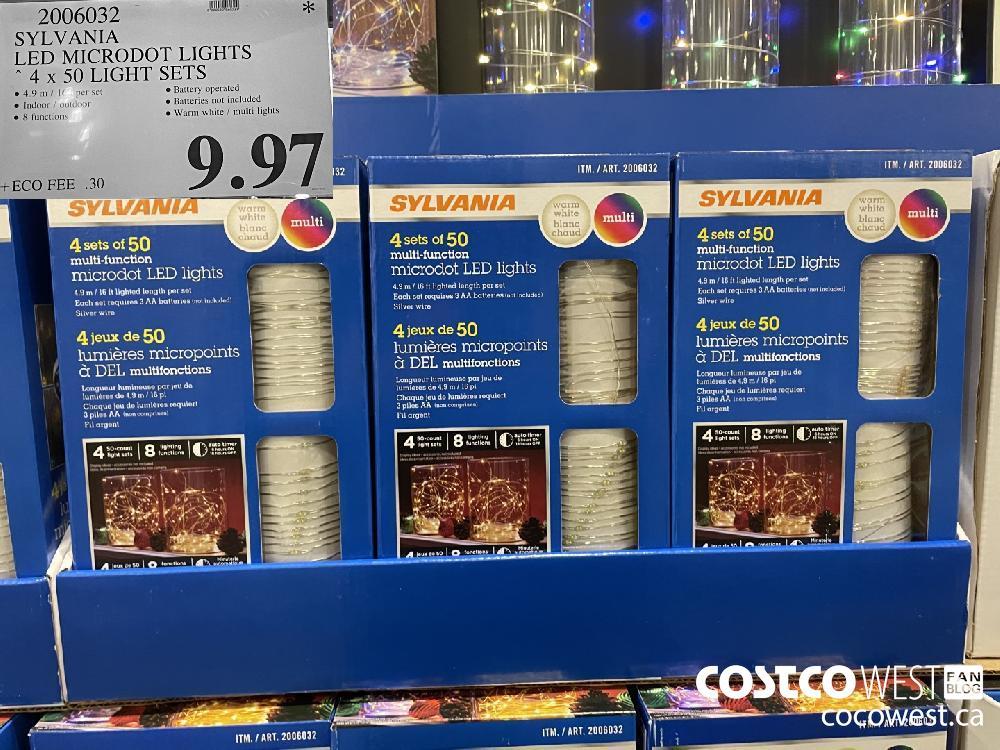 20060320 SYLVANIA LED MICRODOT LIGHTS 4 x 50 LIGHT SETS $9.97