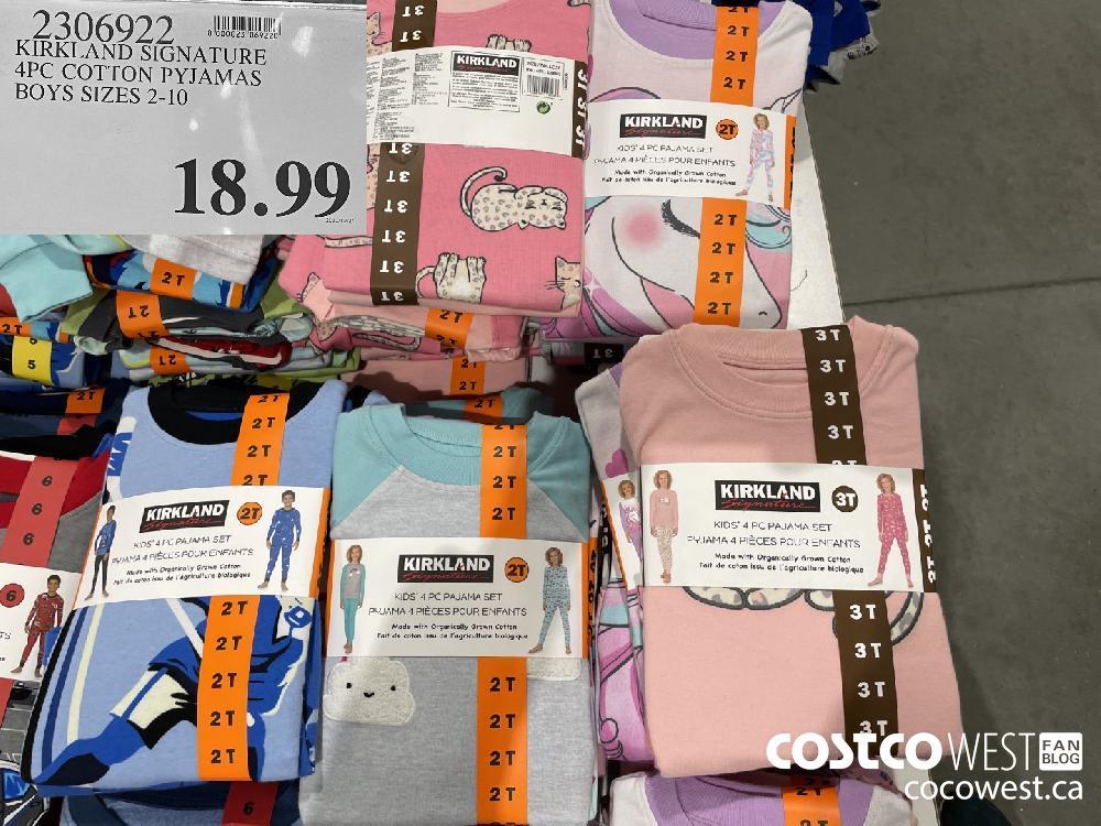 2306922 KIRKLAND SIGNATURE 4PC COTTON PYJAMAS BOYS SIZES 2-10 $18.99