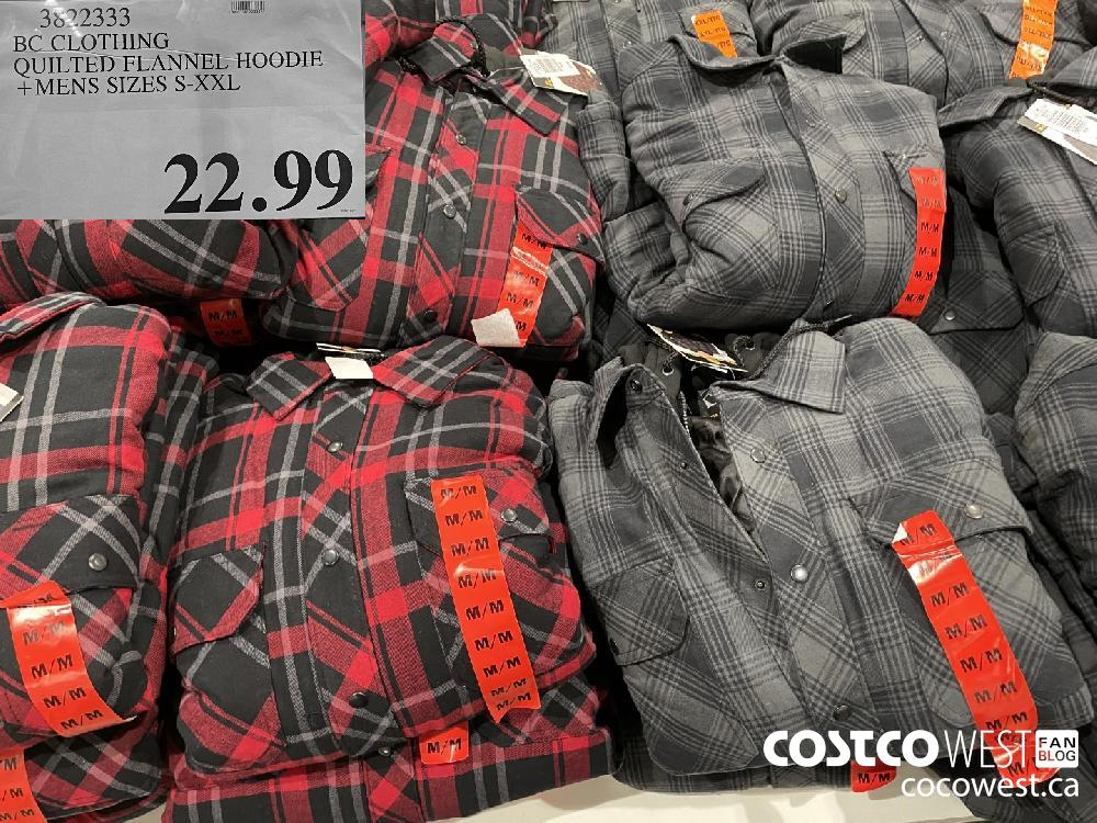 2.79 30C BC CLOTHING QUILTED FLANNEL HOODIE MENS SIZES S-XXL $22.99