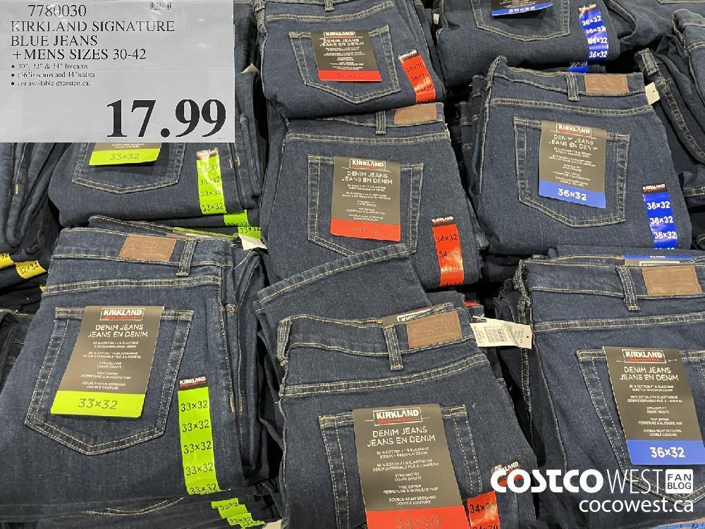 7780030 KIRKLAND SIGNATURE BLUE JEANS MENS SIZES 30-42 $17.99