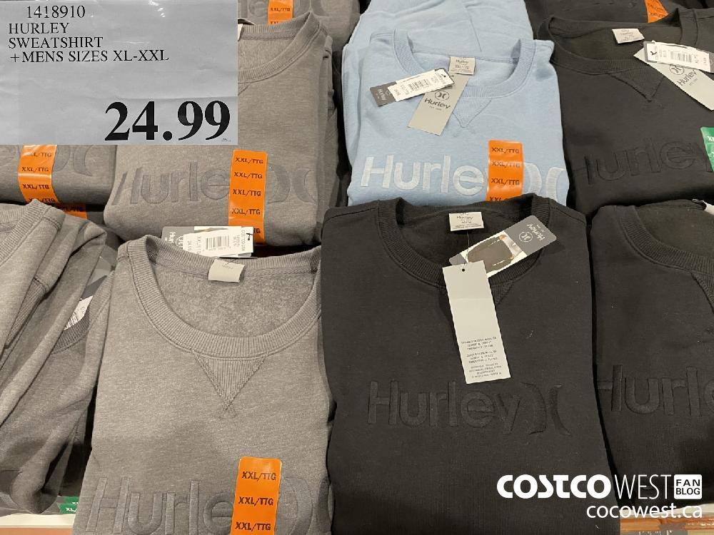 1418910 HURLEY SWEATSHIRT MENS SIZES XL-XXL $24.99
