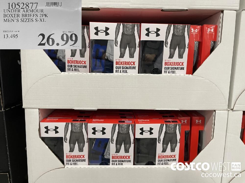 1052877 UNDER ARMOUR BOXER BRIEFS 2PK MEN'S SIZES S-XL $26.99