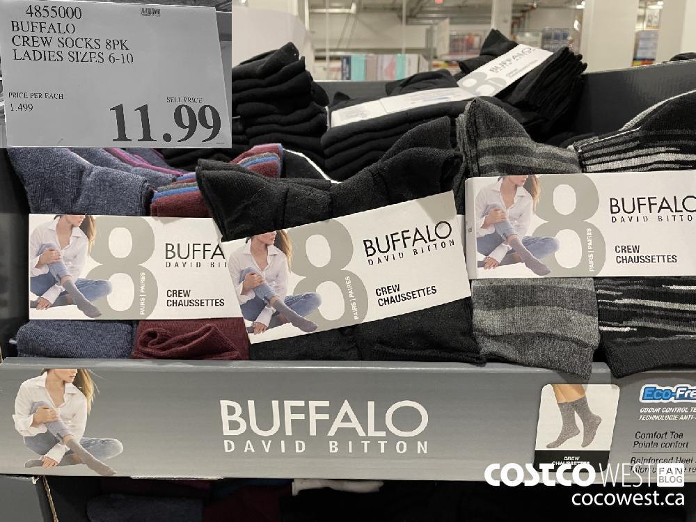 4855000 BUFFALO CREW SOCKS 8PK LADIES SIZES 6-10 $11.99