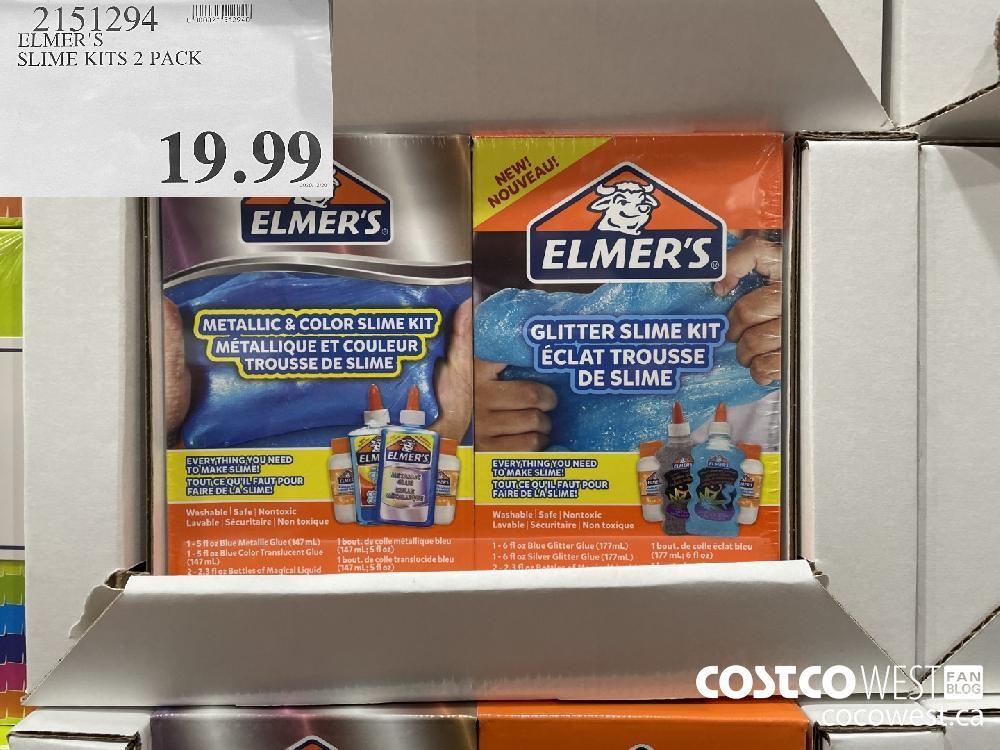 9151294 ELMER'S SLIME KITS 2 PACK $19.99