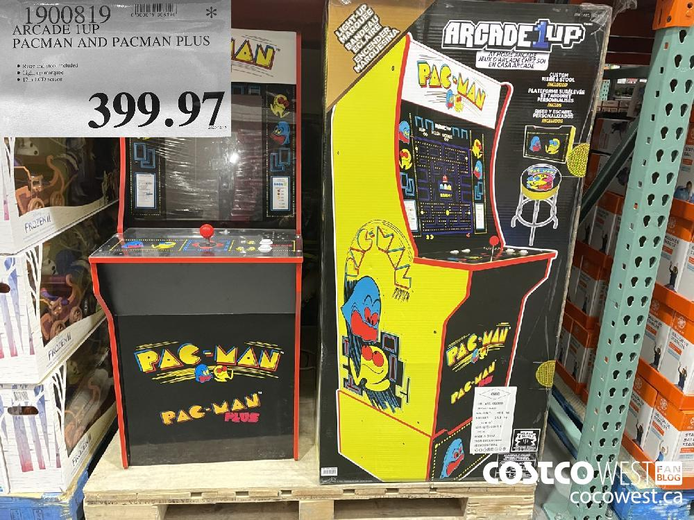 1900819 ARCADE 1UP PACMAN AND PACMAN PLUS $399.97