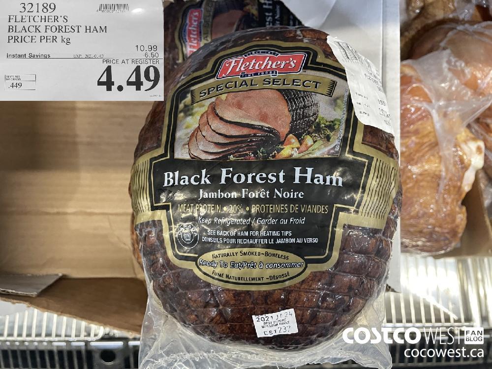 32189 FLETCHER'S BLACK FOREST HAM PRICE PER kg EXPIRY DATE: 2021-01-03 $4.49