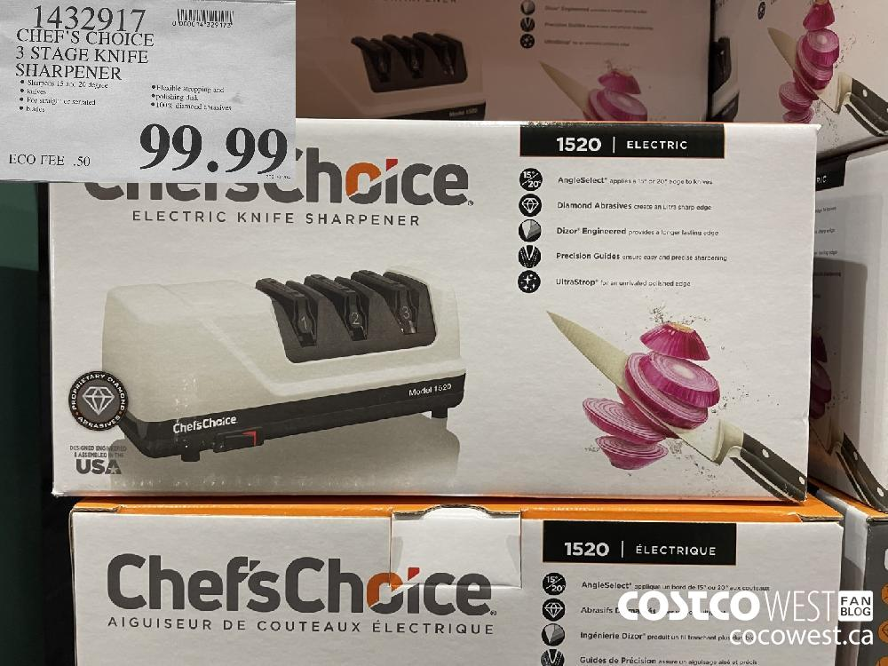 1432917 CHEF'S CHOICE 3 STAGE KNIFE SHARPENER $99.99