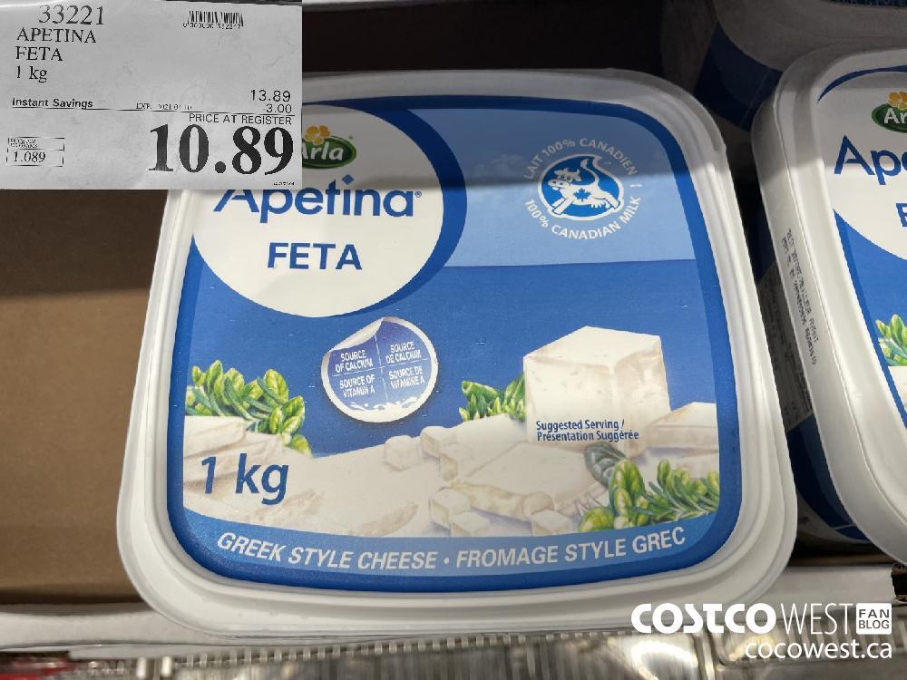 33221 APETINA FETA 1 kg EXPIRY DATE: 2021-01-10 $10.89