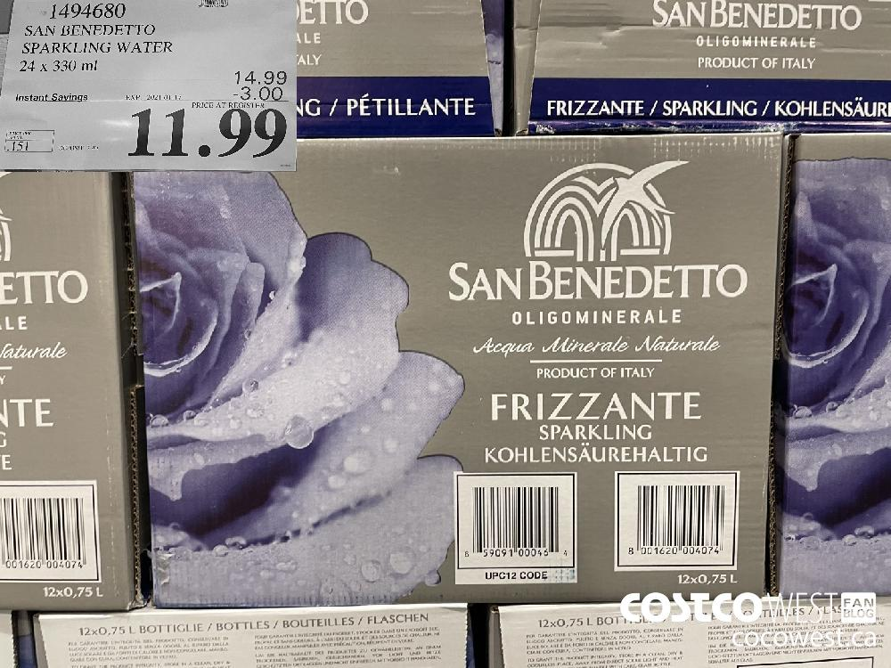 1494680 SAN BENEDETTO SPARKLING WATER 24 x 330 ml EXPIRY DATE: 2021-01-17 $11.99
