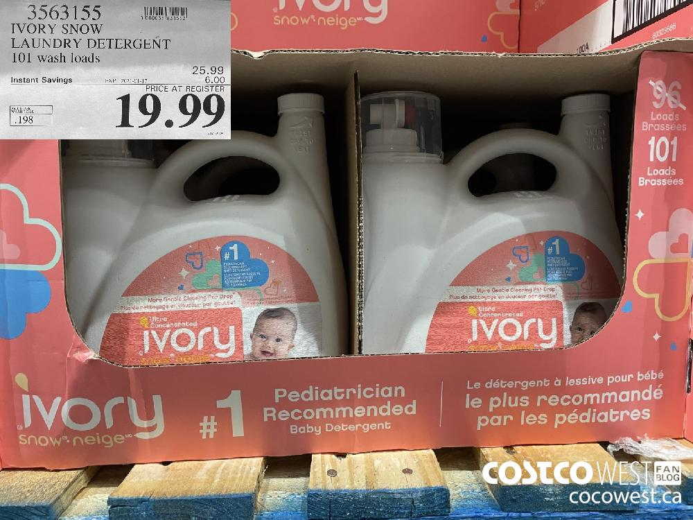 3563155 IVORY SNOW LAUNDRY DETERGENT 101 wash loads EXPIRY DATE: 2021-01-17 $19.99