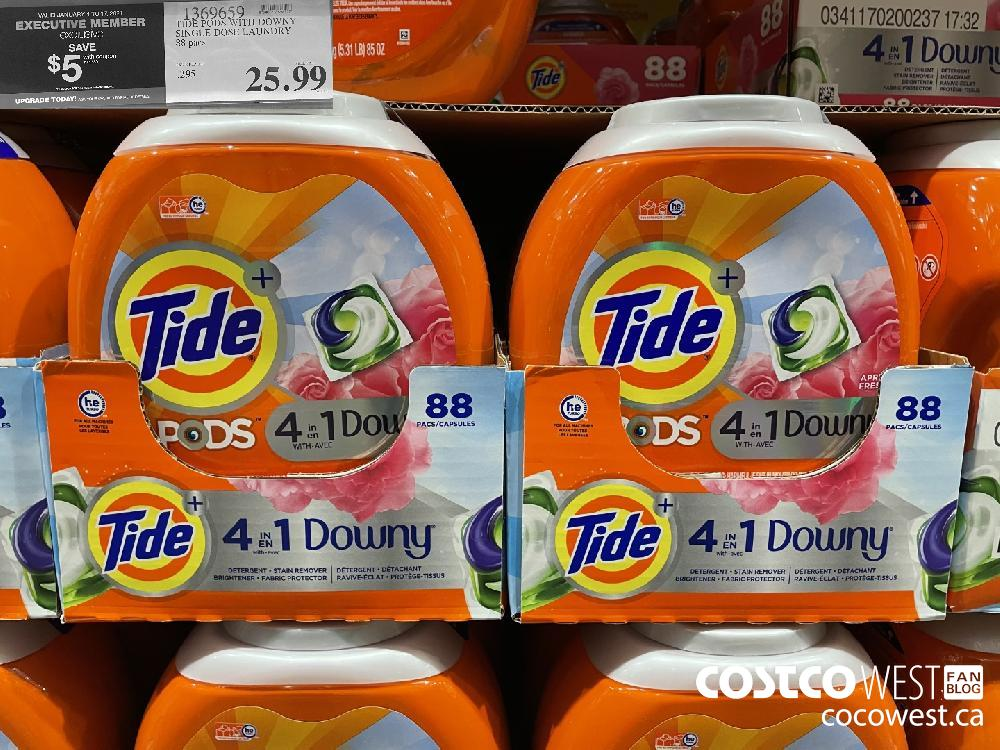 1369659 TIDE PODS WITH DOWNY SINGLE DOSE LAUNDRY 88 pacs $25.99