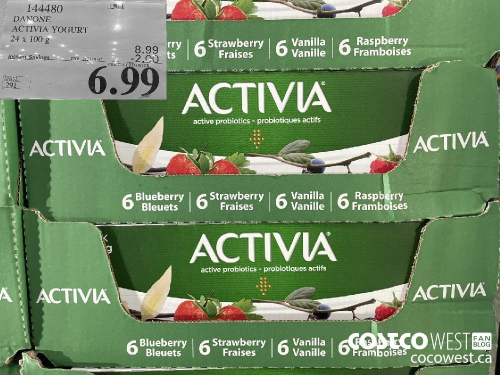 144480 DANONE ACTIVIA YOGURT 24 x 100 g EXPIRY DATE: 2021-01-07 $6.99