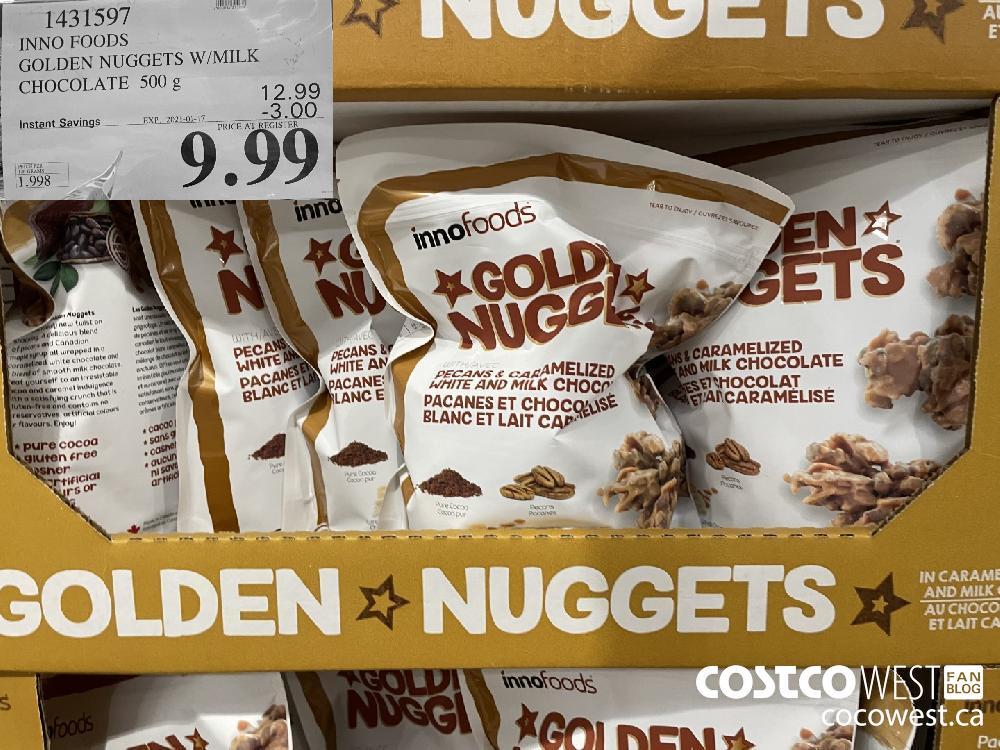 143159 INNO FOODS GOLDEN NUGGETS W/MILK CHOCOLATE 500 g EXPIRY DATE: 2021-01-17 $9.99