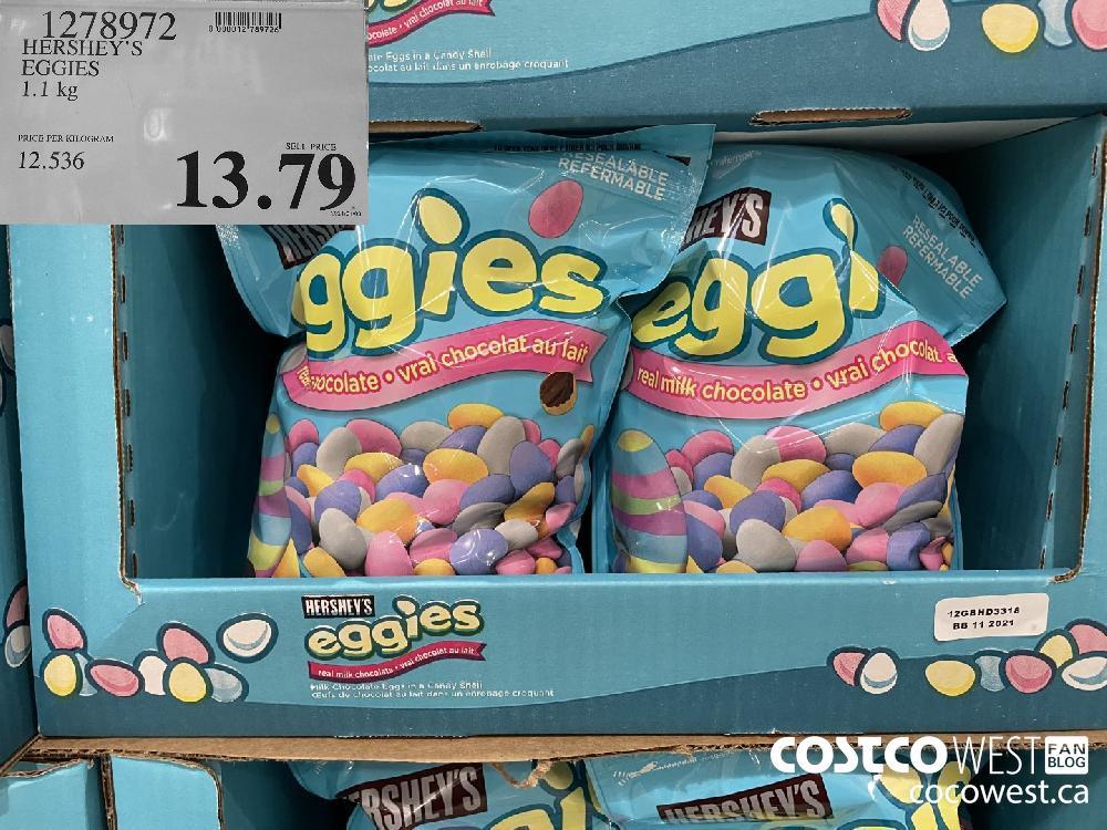 1278972 HERSHEY'S EGGIES 1.1 kg $13.79