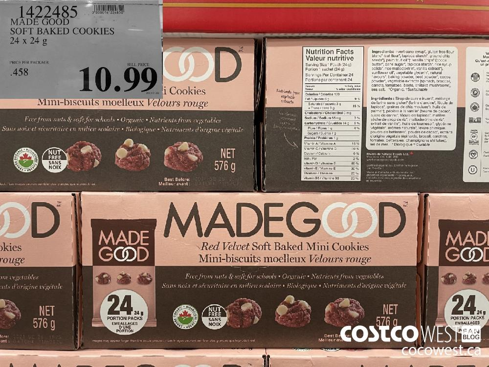 1422485 MADE GOOD SOFT BAKED COOKIES 24 x 24 g $10.99