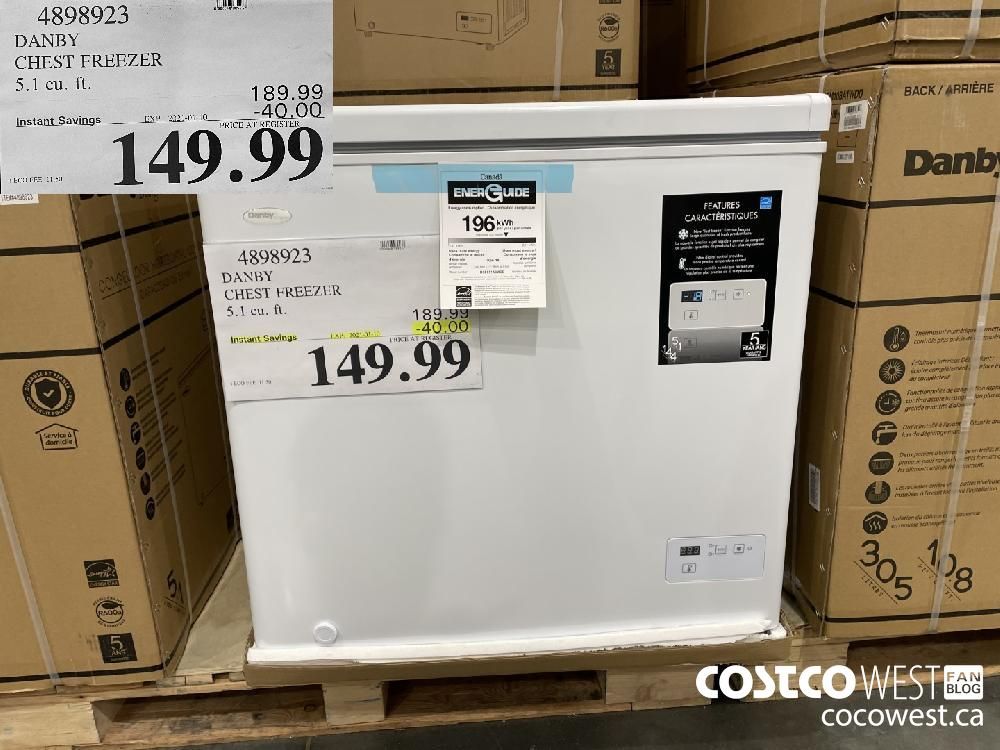 4898923 DANBY CHEST FREEZER 5.1 cu. ft. EXPIRY DATE: 2021-01-10 $149.99