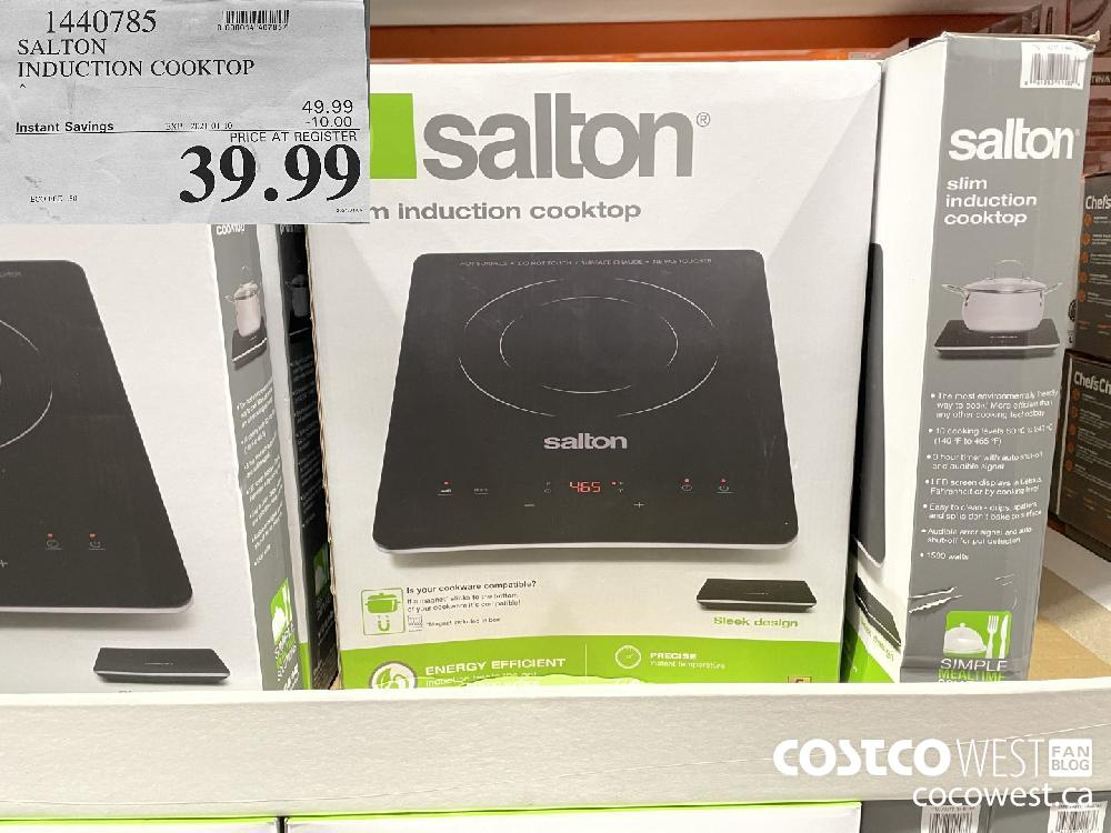 1440785 SALTON INDUCTION COOKTOP EXPIRY DATE: 2021-01-10 $39.99