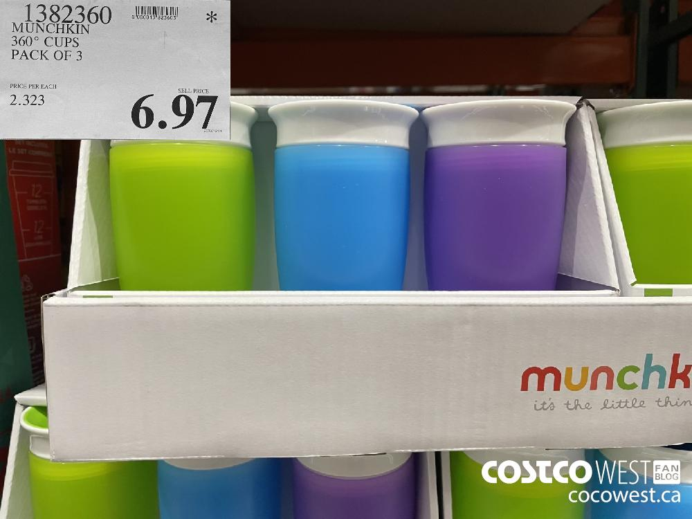 1382360 MUNCHKIN 360° CUPS PACK OF 3 $6.97