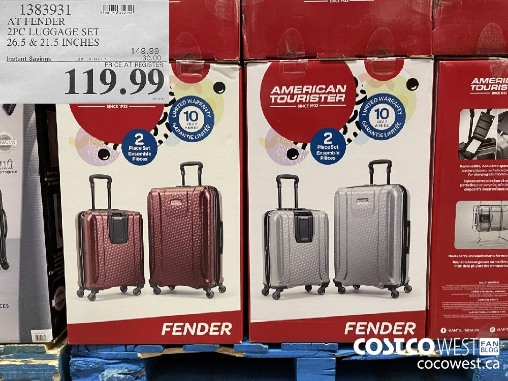1383931 AT FENDER 2PC LUGGAGE SET 26.5