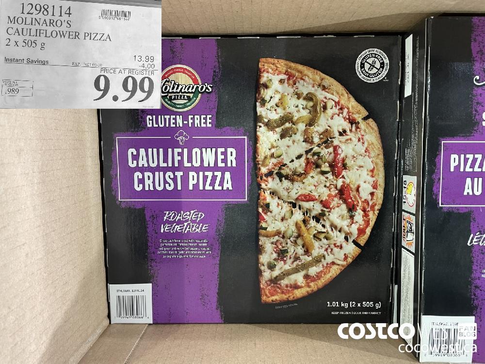 1298114 MOLINARO'S CAULIFLOWER PIZZA 2x 505 g EXPIRY DATE: 2021-01-10 $9.99