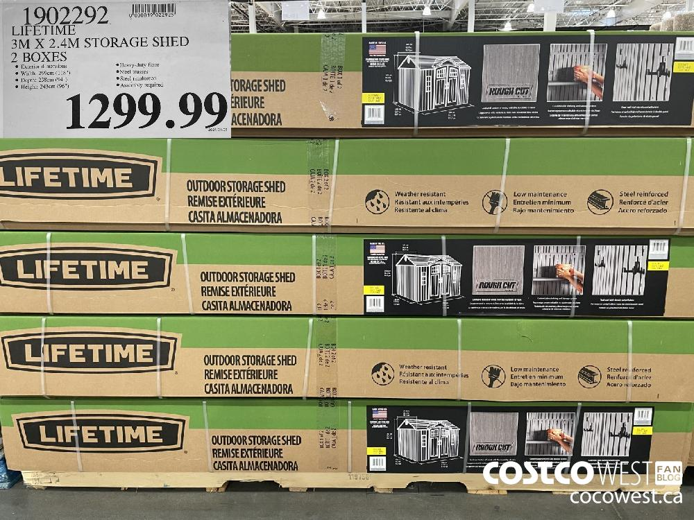 7902292 LIFETIME 7 3M X 2.4M STORAGE SHED 2 BOXES $1299.99