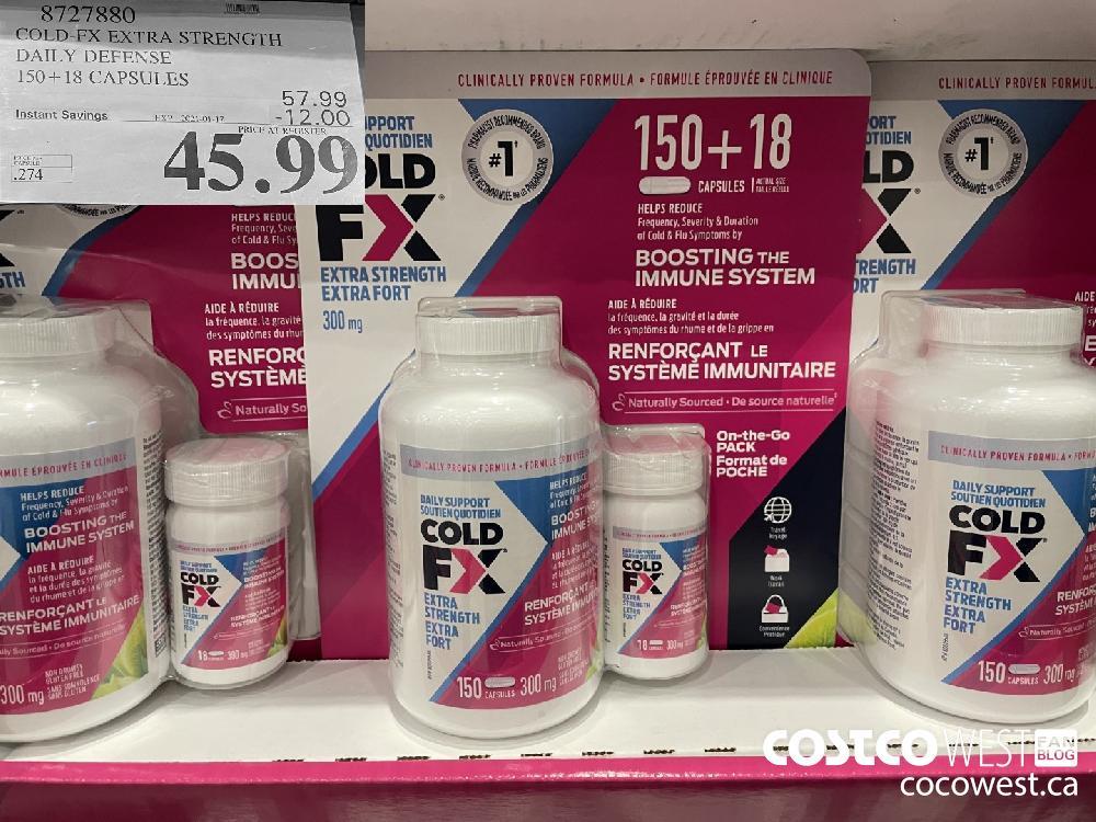8727880 COLD-FX EXTRA STRENGTH DAILY DEFENSE 150 18 CAPSULES EXPIRY DATE: 2021-01-17 $45.99