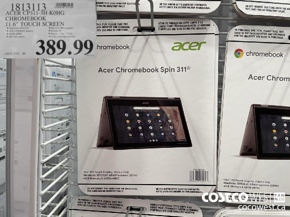 """1813113 ACER CP311-3H-K0HG CHROMEBOOK 11.6"""" TOUCH SCREEN $389.99"""